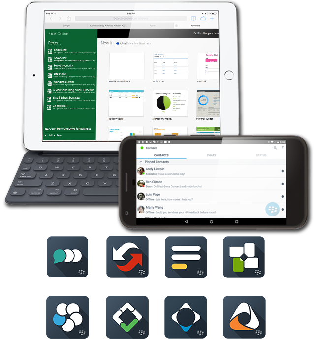 BlackBerry Connect Notes Share Docs To Go Software Marketplace