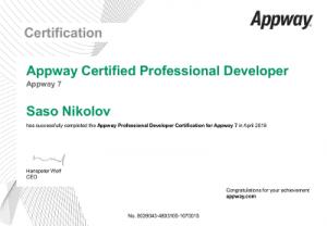 Academy7 ProfessionalDeveloperCertification - Saso Nikolov