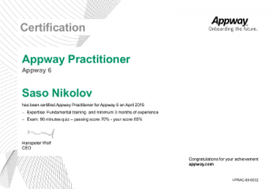Appway_AcademyCertificationPractitioner - Saso Nikolov - April 2015